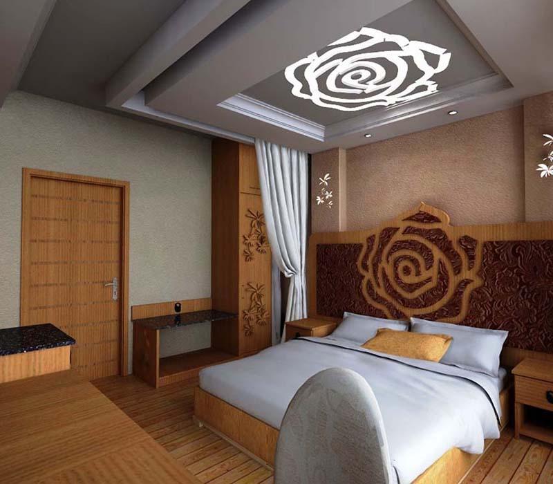 Rose Headboard Bed