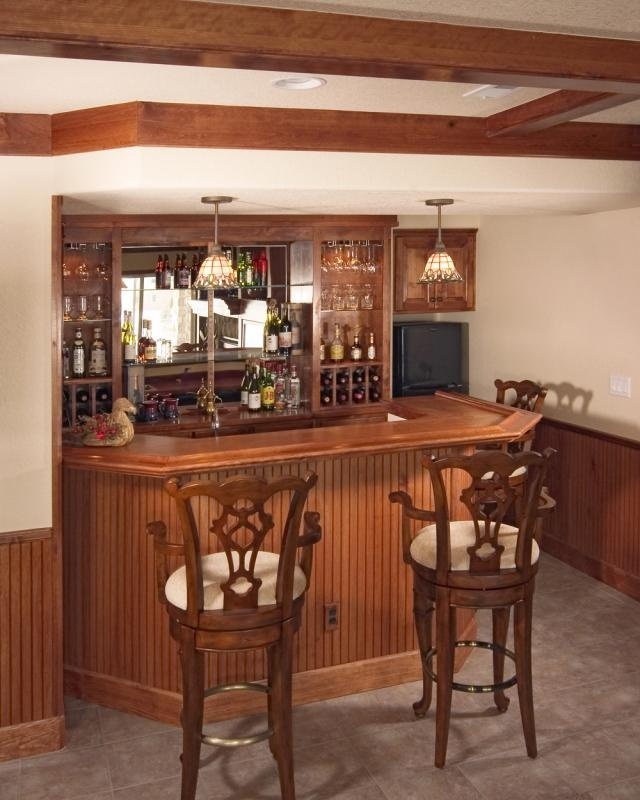 18 Small Home Bar Designs Ideas: Shahtimber-bar-wooden-counter