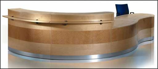 Shahtimber Modern Wooden Reception Desk